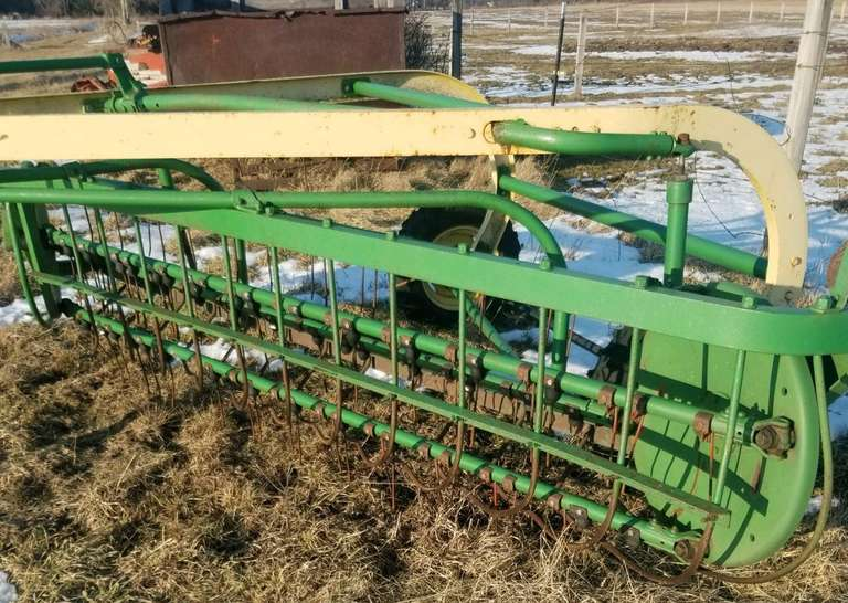 John Deere Rake, New Tires Last Year.  Many Teeth Replaced Last Year, but Needs Some Replaced Still.  Good to Fair Condition