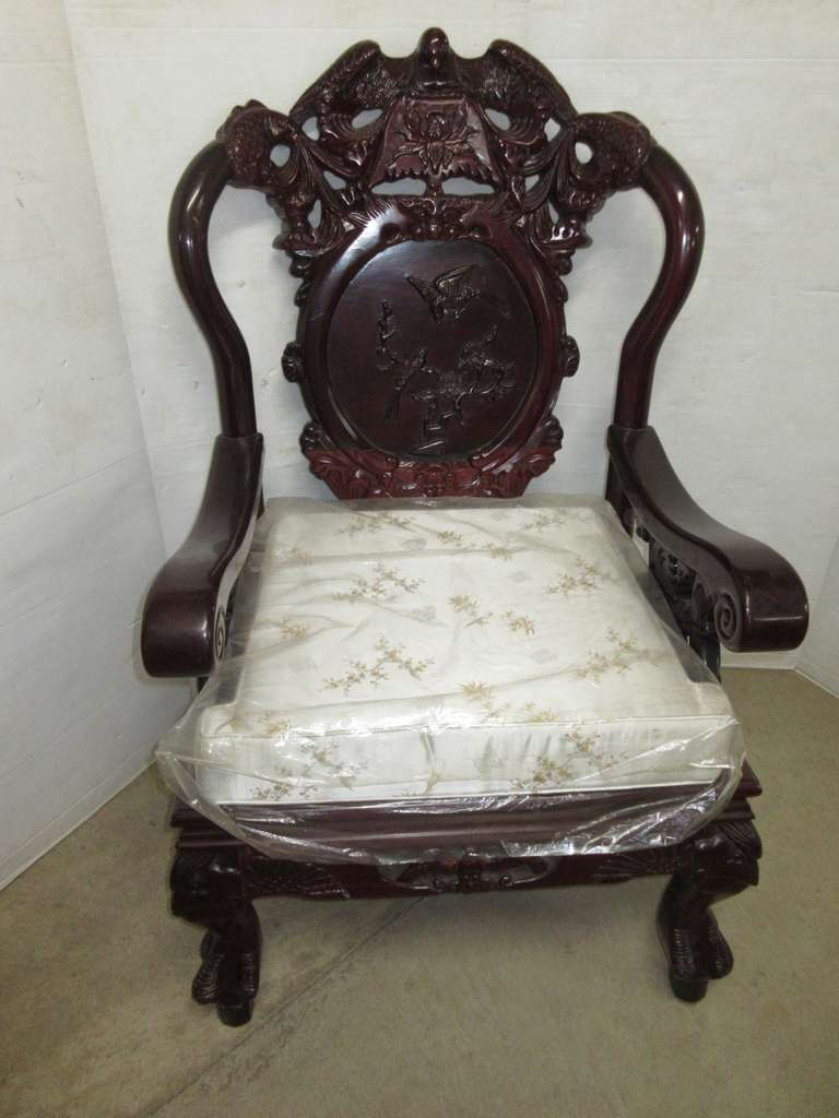 Oriental Chair with with Eagle Detailing, Matches Lot Nos. 5, 6, and 24