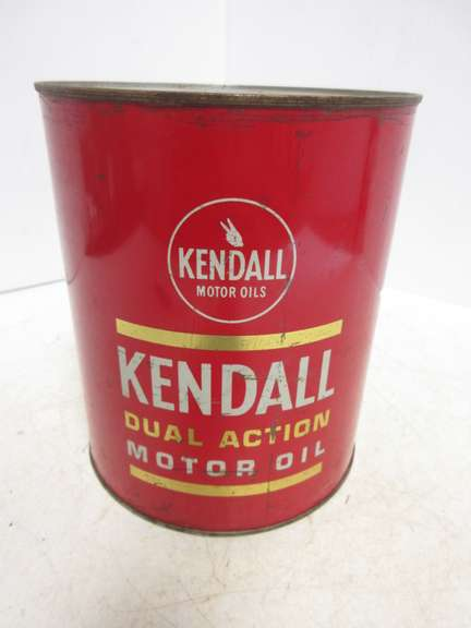 One-Gallon All Metal Can of Kendall Motor Oil
