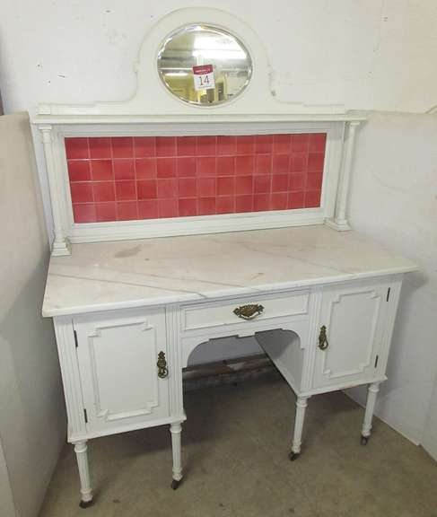 Two-Piece Marble Top Vanity