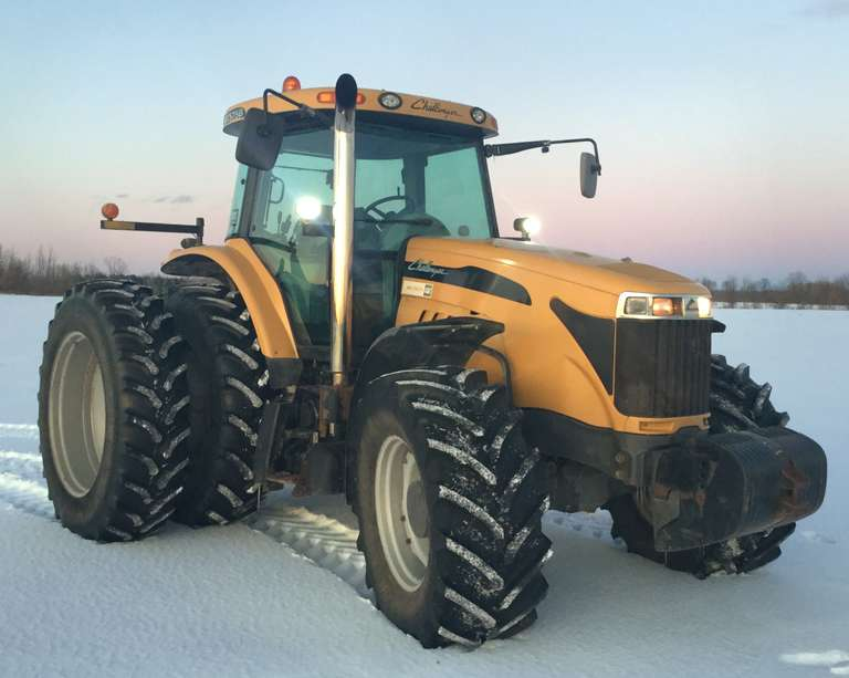 2011 Challenger MT575B, (Approx. 8300 Hours), New Front Tires, Rear Tires at 40%, 26 MPH, CVT Transmission, CAT Engine at 190 HP, Clutch Pedal Fluid Leaks Away
