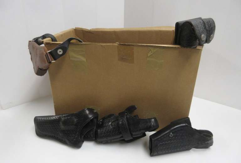 (13) Misc. Holsters, Pouches, and Adapters, Some Leather, Some Nylon