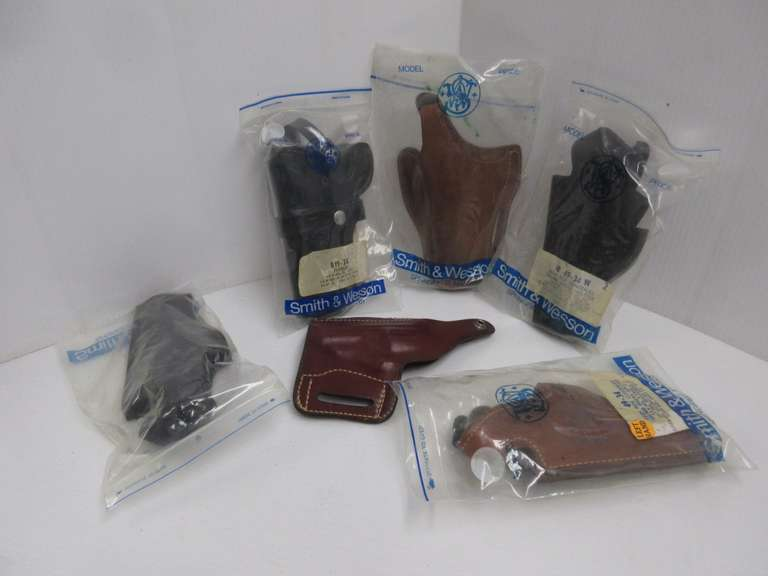 (6) Misc. Left Hand Holsters, Mostly Leather, Mostly Name Brands
