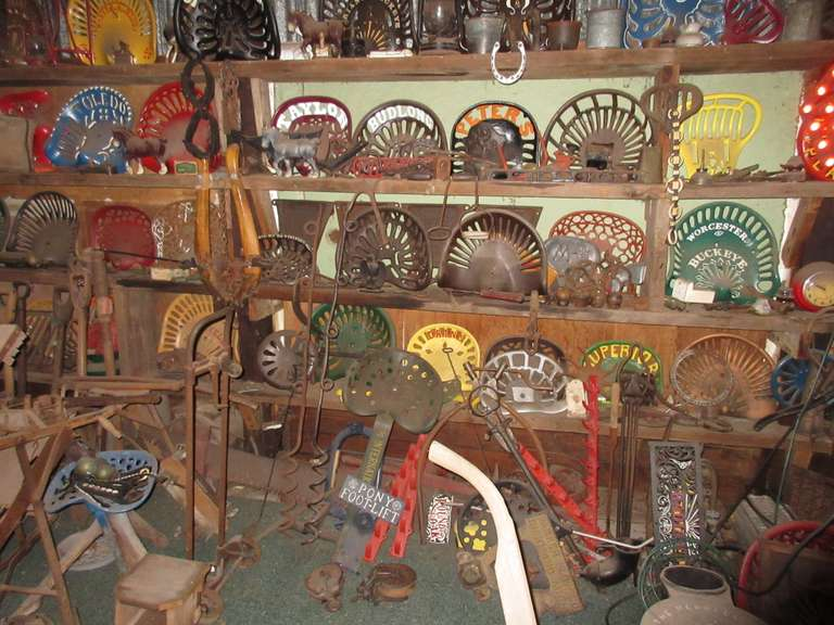 August 18th (Tuesday) Bill Corl's (of Caro, MI) Farm Antique Collection, Incl: Large Cast Iron Seat Collection! Online Auction