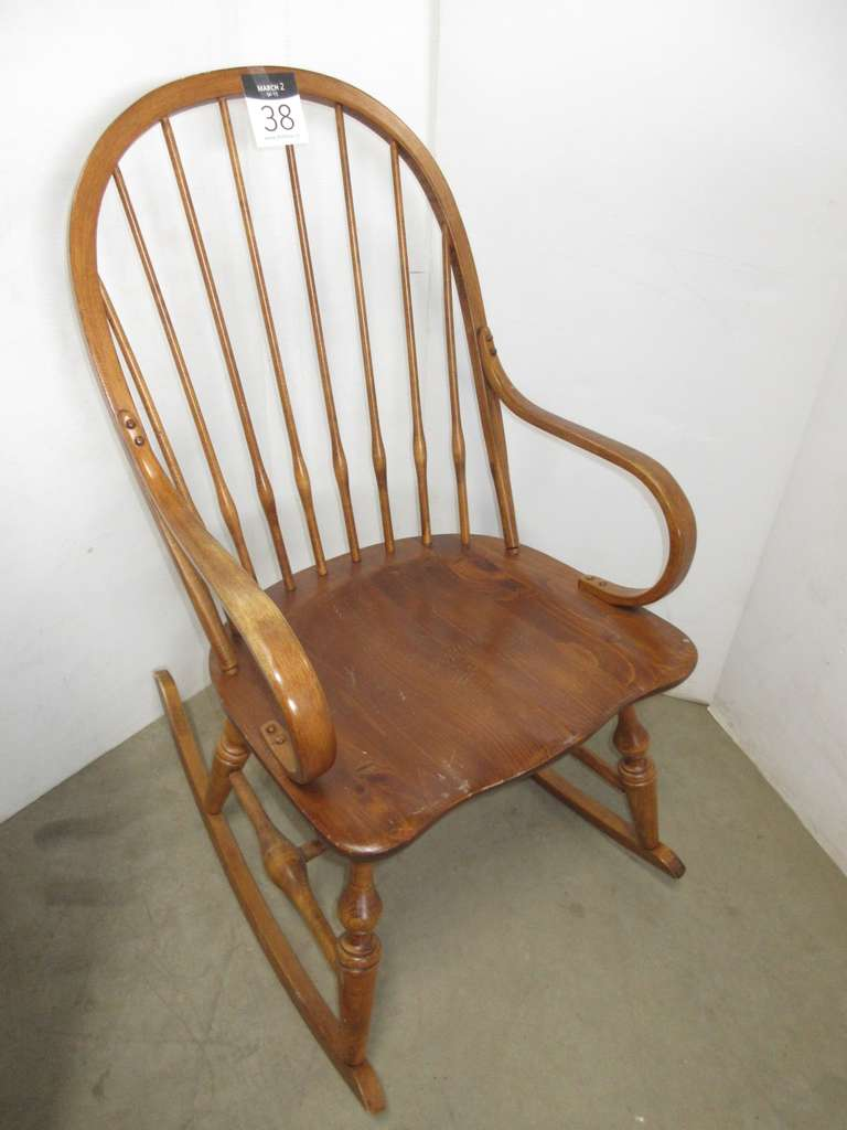 Solid Maple Windsor Style Rocking Chair