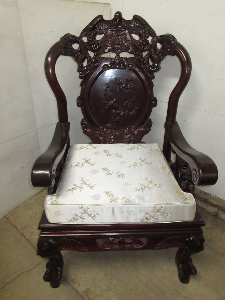 Oriental Chair with Eagle Detailing, Matches Lot Nos. 5, 7, and 24