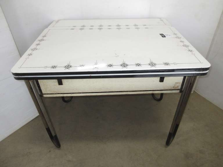 Porcelain Top Antique Table