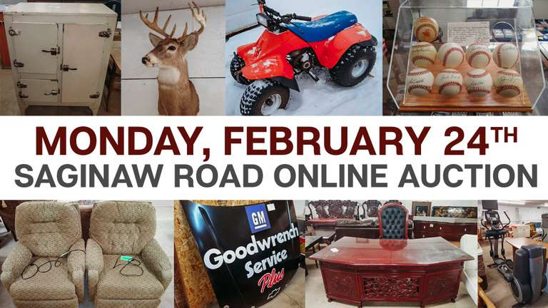 February 24th (Monday) Saginaw Road Online Consignment