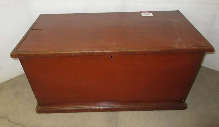 Old Dovetail 1800s Blanket Chest, One Piece Wide Boards, Glove Box Inside, Writing on Back