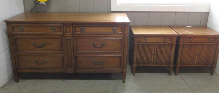 Older Solid Wood Dresser and (2) Nightstands, Made by Drexel