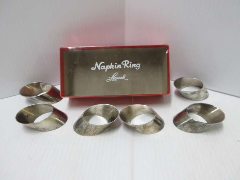 Silver Napkin Rings, Marked Silver-Plate