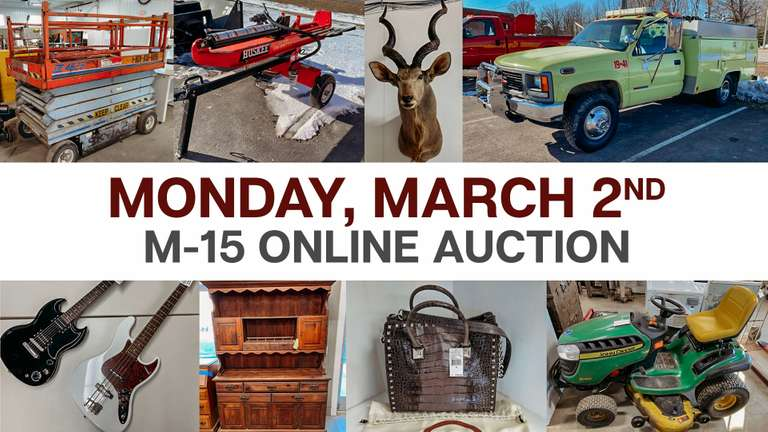 March 2nd (Monday) M-15 Online Consignment