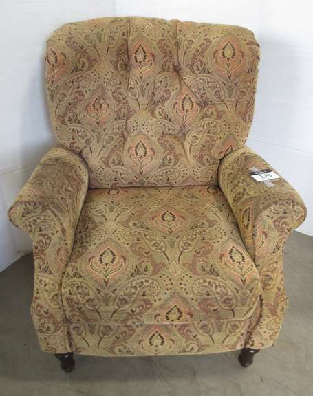 Brown Pattern Reclining Chair