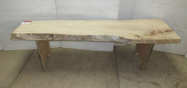 Maple Bench, Live Edge, Honey Oak Legs