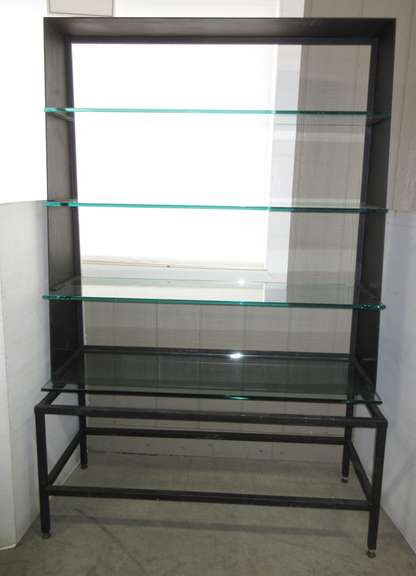 Metal and Glass Display Shelf with Thick Tempered Glass