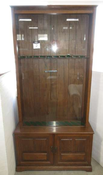 Gun Cabinet, Holds Up to 10 Guns, Locks have Key
