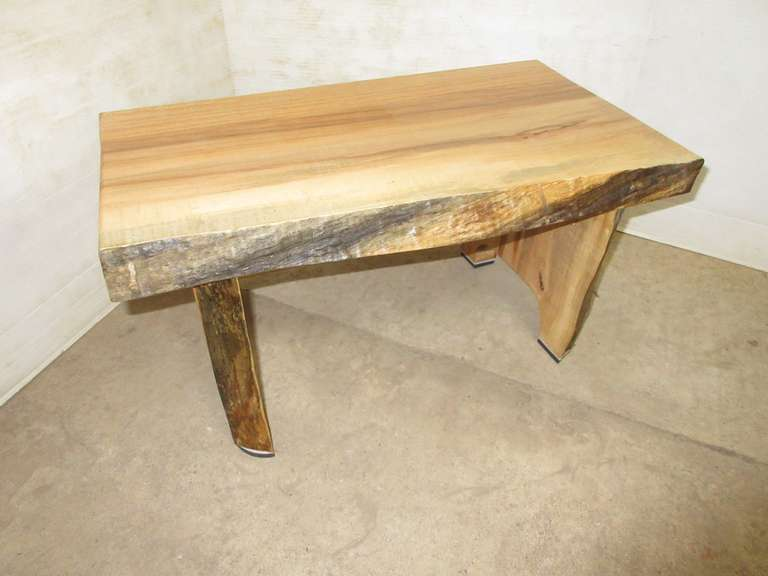 Hickory Stool, Live Edge