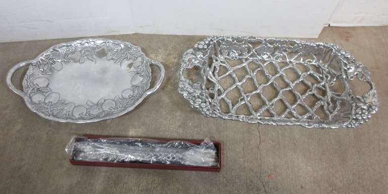 (3) Arthur Court Pieces, Include: Shoe Horn, Platter, and Basket