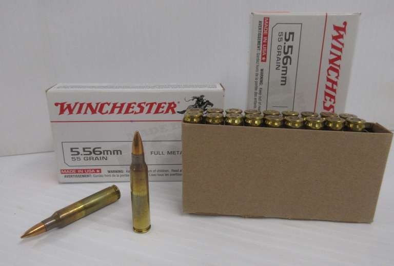 (2) Boxes of 5.56mm Winchester