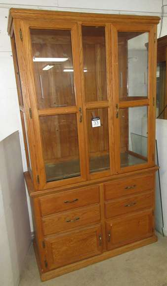 Two-Piece China Cabinet