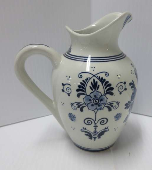 Delft Small Blue Pitcher, Made in Holland, No. 28-69036