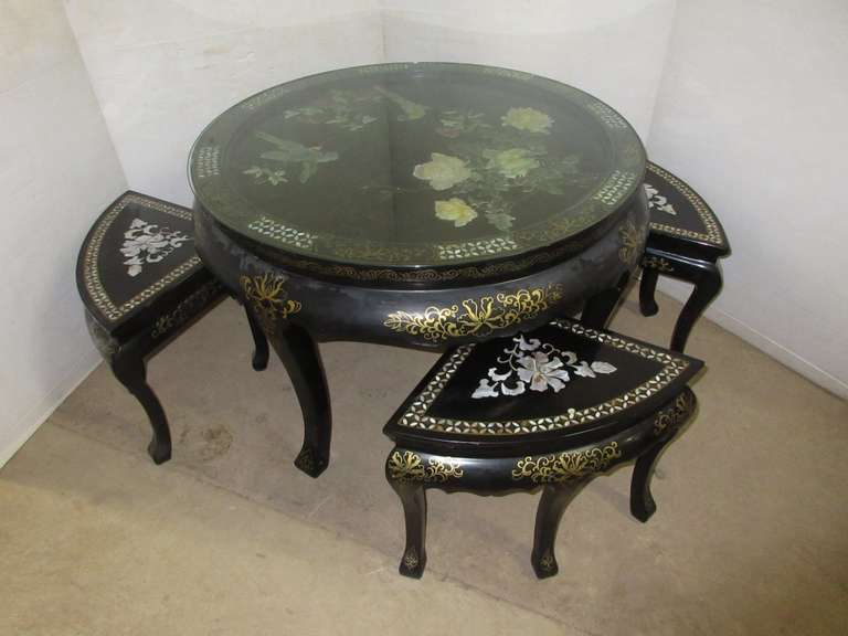 Low Table and Nesting Stools