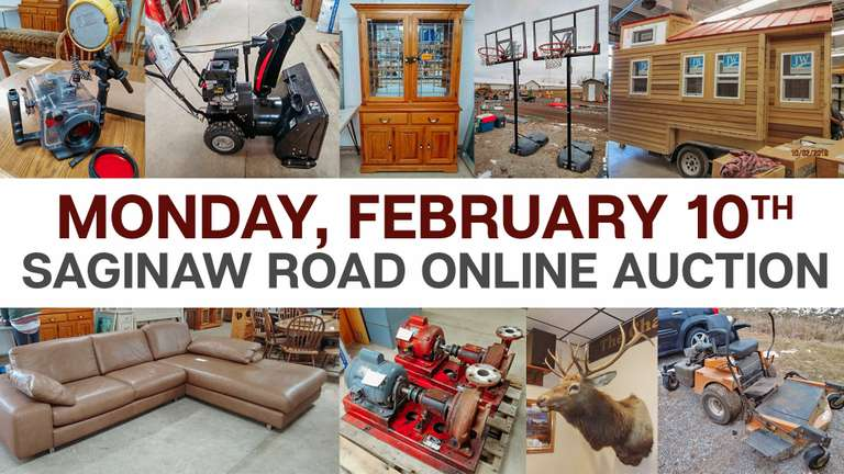 February 10th (Monday) Saginaw Road Online Consignment