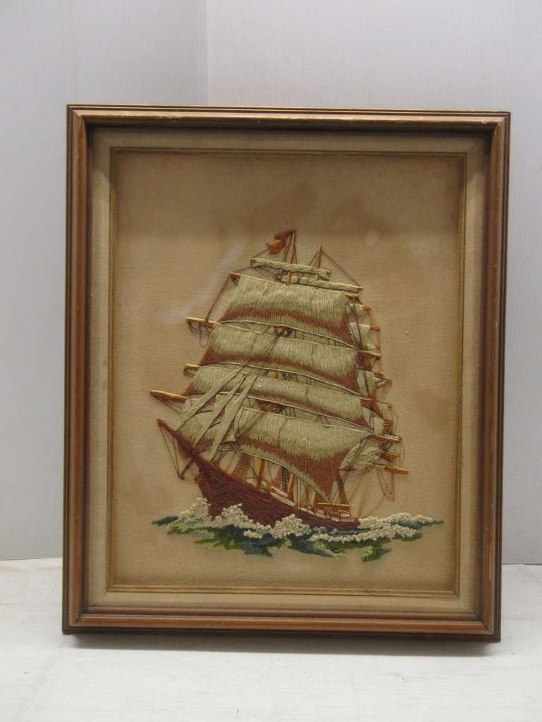 Fabric Ship Embroidery