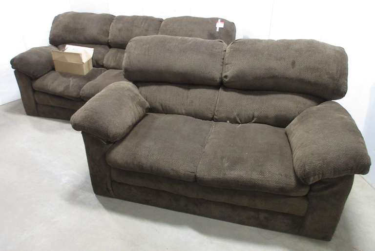 "Couch, 87""L; Loveseat, 67""L"