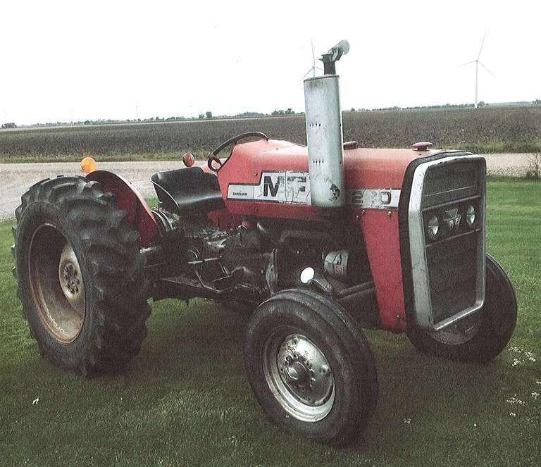Massey-Ferguson 230 Tractor, (Approx. 1976 Low Hours - Not Working), 34 PTO hp, 4-Cylinder Gas Engine, 6-Speed Transmission, Wide Front, Very Good Tires, New Battery in 2019, Starter Repair in 2019, New Clutch in 2019, Power Steering, 3-Point Hitch, Good General Condition, Comes with Operator's Manual and IT Shop Manual, (Tire Chains May be Available to Buyer but Not Included)