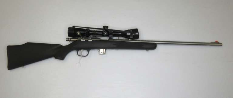 Marlin Firearms Model 880 .22LR Bolt Action Rimfire Rifle Composite Stock with Stainless Steel Barrel, Includes 3-9 Power Bushnell Scope and Covers