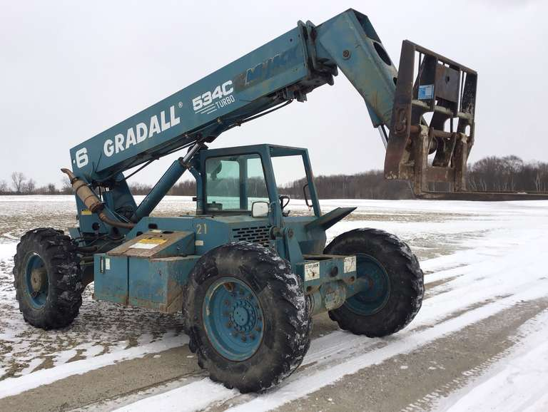 Gradall 534C Lift, Rebuilt Hydro and Front Drive Motor Four Years Ago, Runs Well
