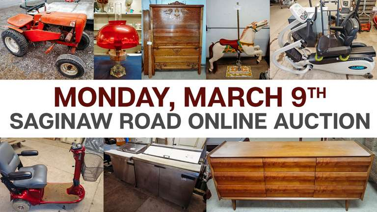 March 9th (Monday) Saginaw Road Online Consignment