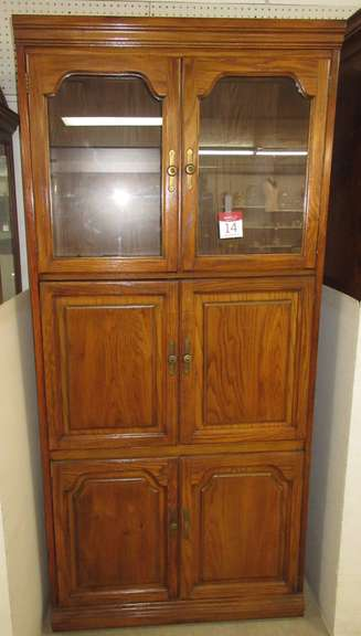 Tall Cabinet and Bookshelf, Triple Doors