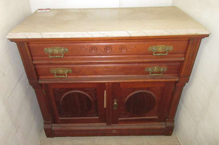 East Lake Cherry Dresser with Marble Top, Matches Lot No. 35