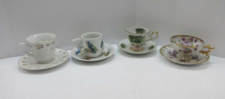 (4) Assorted Cups and Saucers