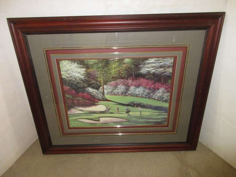 13th Hole at the Masters Golf Print, Wood Frame