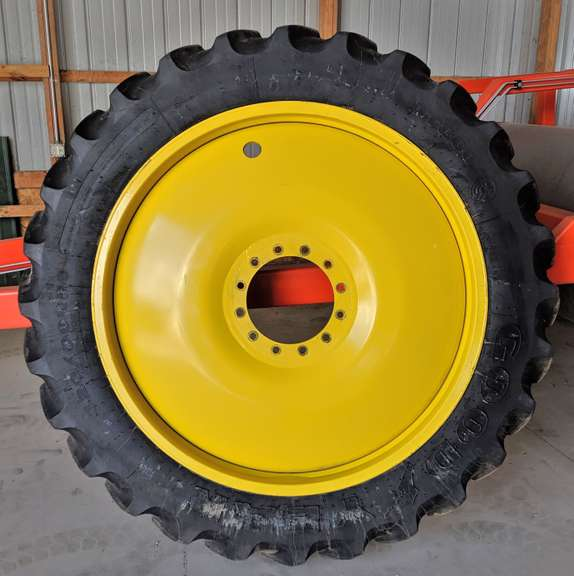 Set of (4)-Titan 50x10 Rims, Fit 320/90R50 Tires, Came Off a John Deere Sprayer with 12-Bolt Hubs (Rims Only)