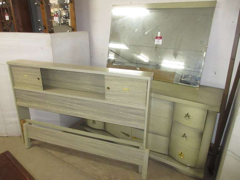 Dresser with Mirror and Full Size Bed Frame