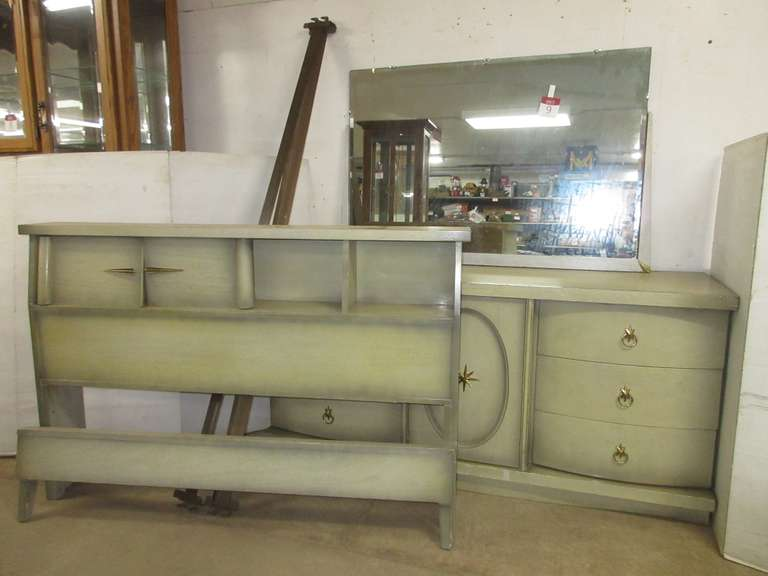 Dresser with Mirror and Full Bed Frame