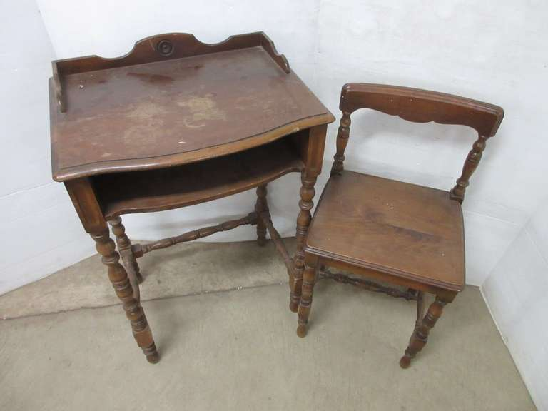 Child's Writing Desk and Chair