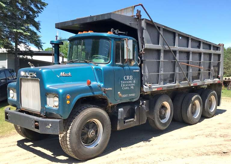 1970 Mack Tri-Axle Dump Truck, Mack Engine, New Steer Tires, 7-Speed Transmission, Air Brakes, Newer Hoist, Box Could Use Work, Workhorse, Runs Well, Clean and Clear Title