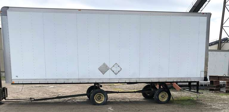 "Morgan Van Body Dry Storage, 26' Long, Rear Door is 8'H x 94""W, Running Gear NOT Included, Seller will Help Buyer Load"