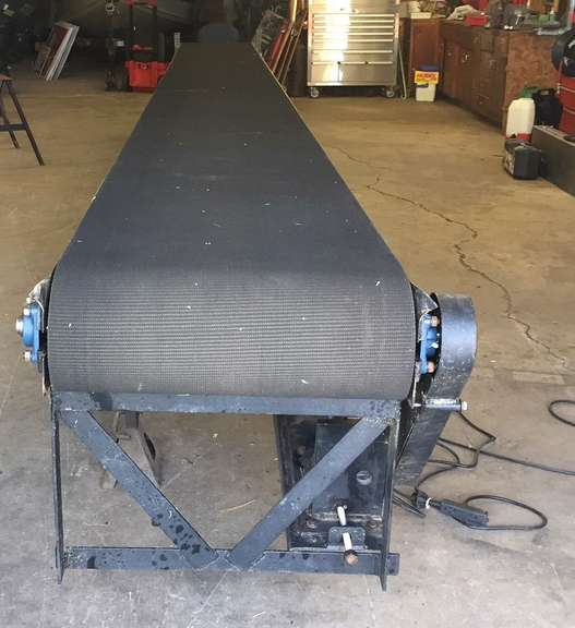 "Shop Built 25' Conveyor, 24"" Wide, 110 Volt, Forward and Reverse Controls, Was Used for Moving Fireworks Out of Basement, NOTE:  Video loaded for this item!"