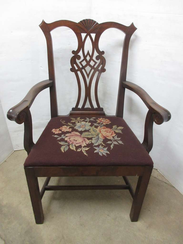 Mahogany Side Chair, Wide Back, Matches Lot No. 36