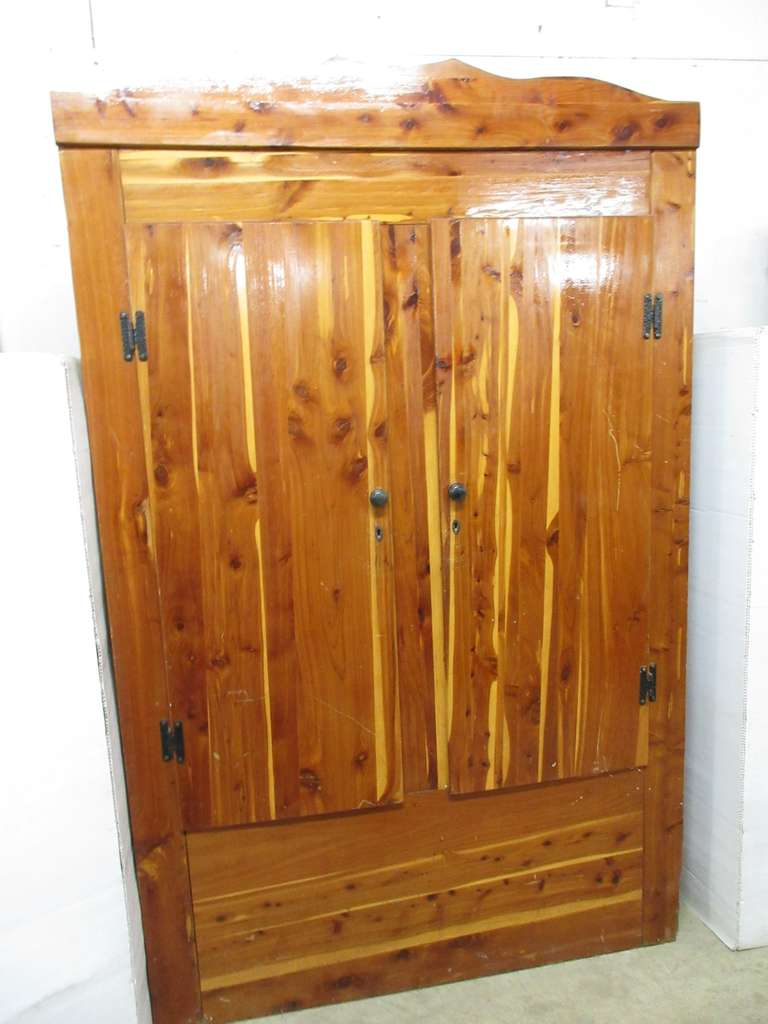 Older Cedar Cabinet with Key