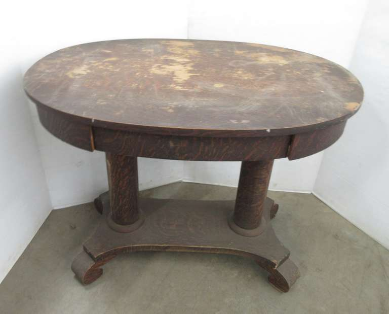 Large Antique Table with Drawer
