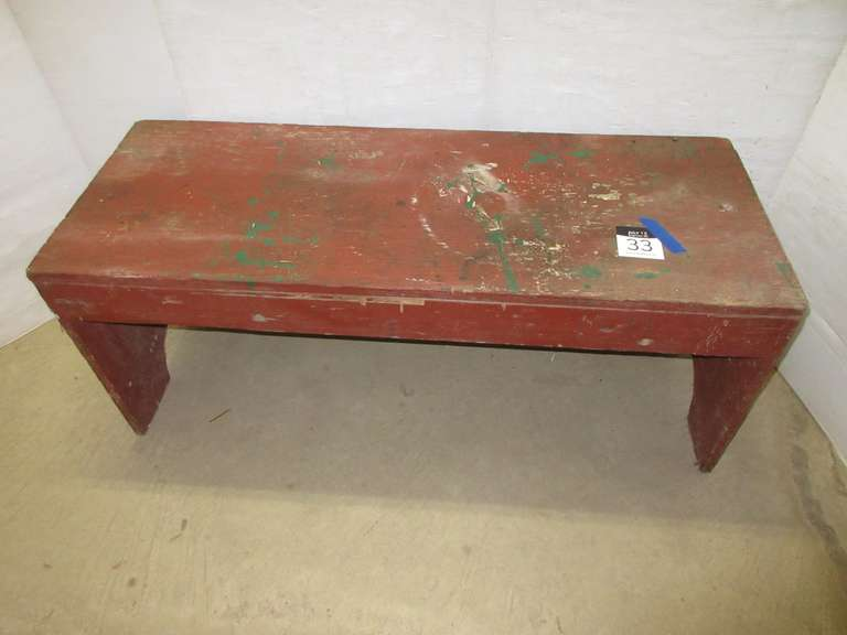 Primitive Red Bench