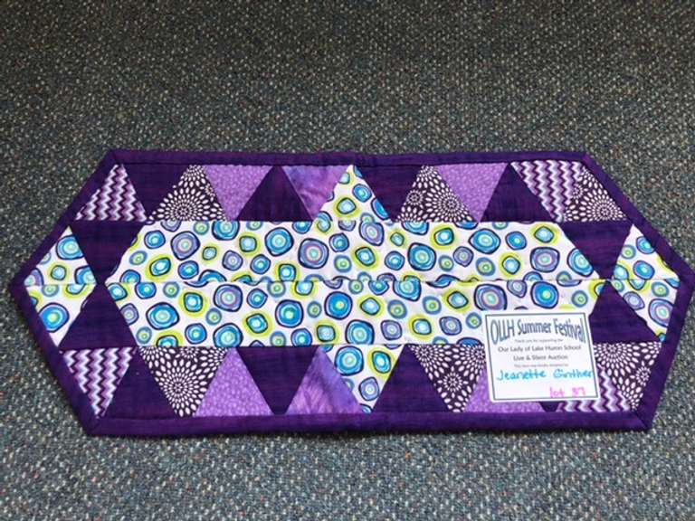 Handmade Purple Table Runner