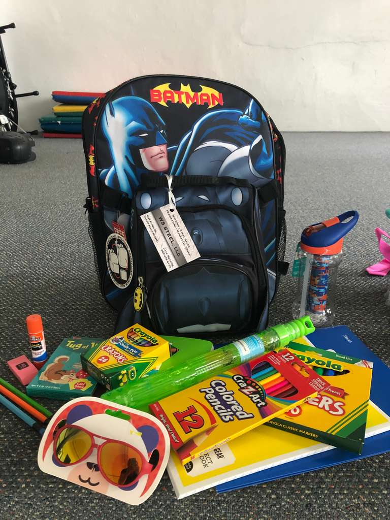 Batman Lunchbag and Backpack Filled with School Supplies, Water Bottle, and Summer Fun Supplies!